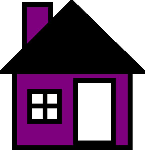 Clipart key purple. House the clip art
