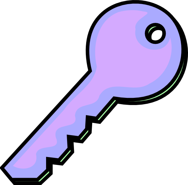 Keys clipart purple. Pink key clip art
