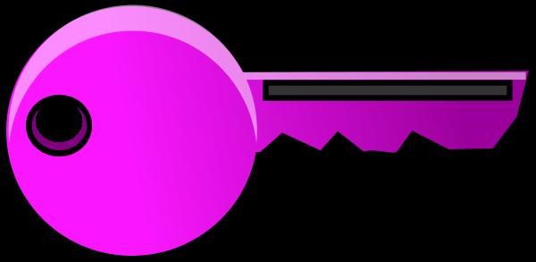 Free pink key cliparts. Keys clipart purple