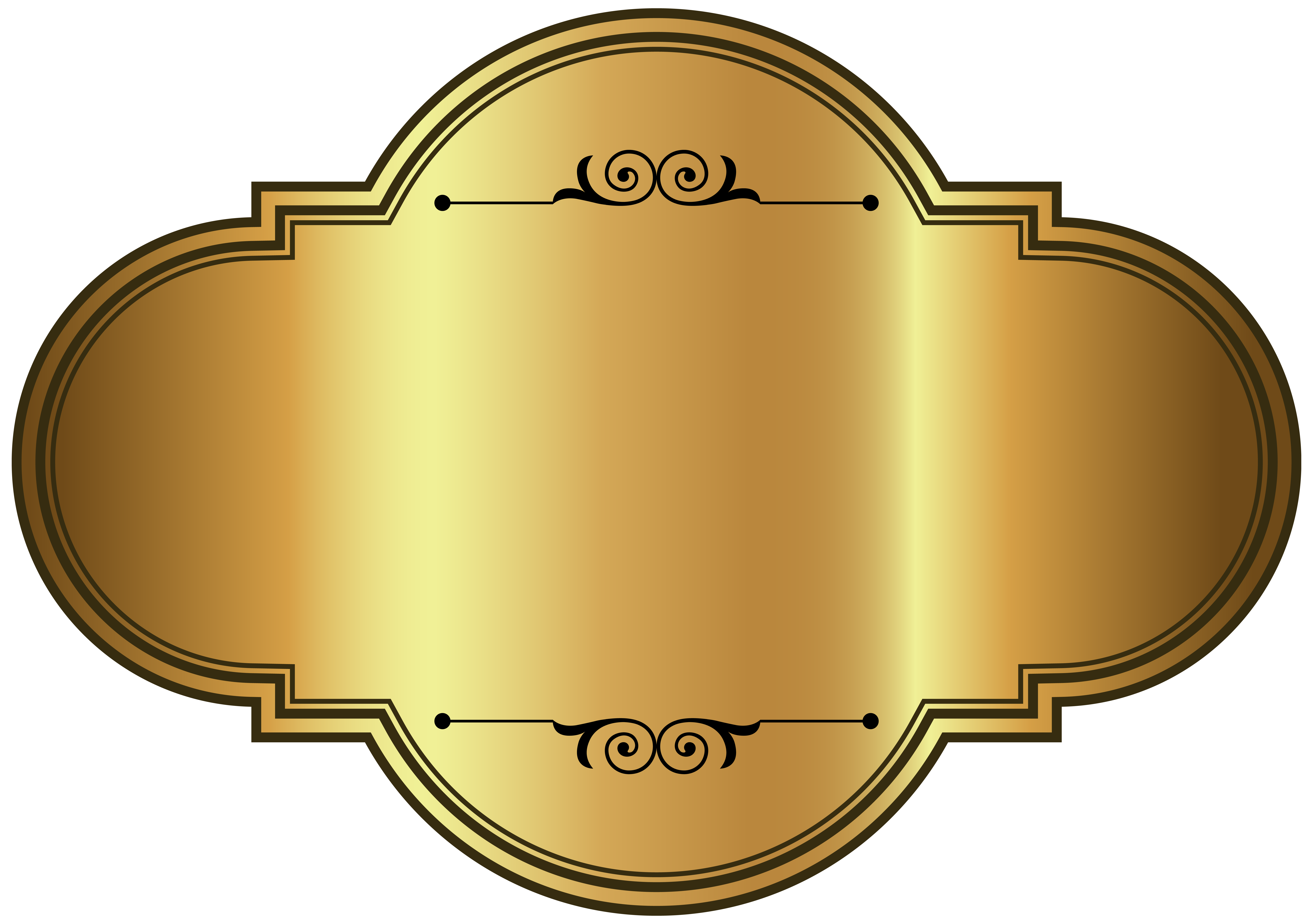 Golden luxury png picture. Label clipart template