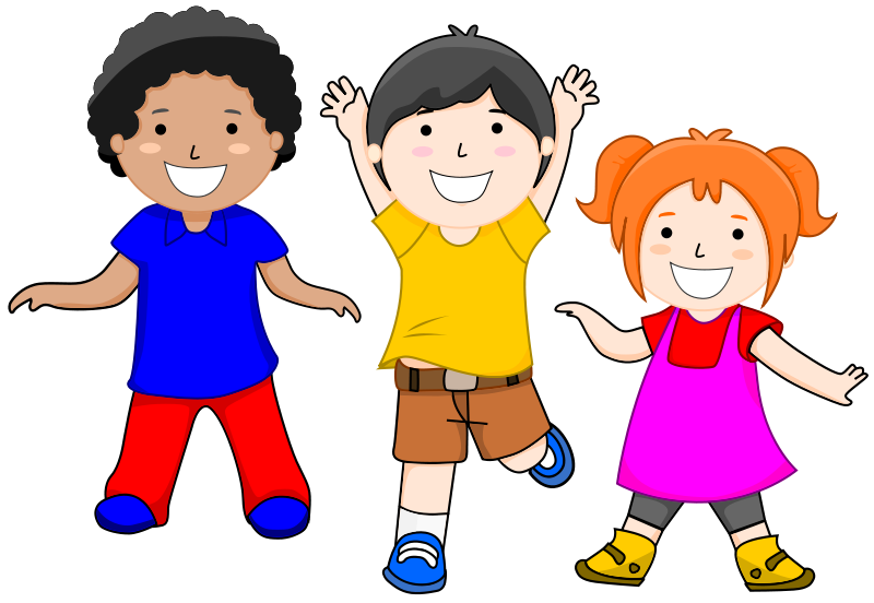 Healthy clipart active. Group child school collection