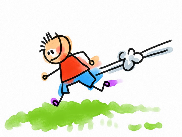 Leisure activities for kids. Kid clipart aerobic