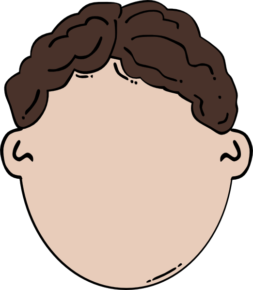 Clipart kid arm. Ponytail face free on