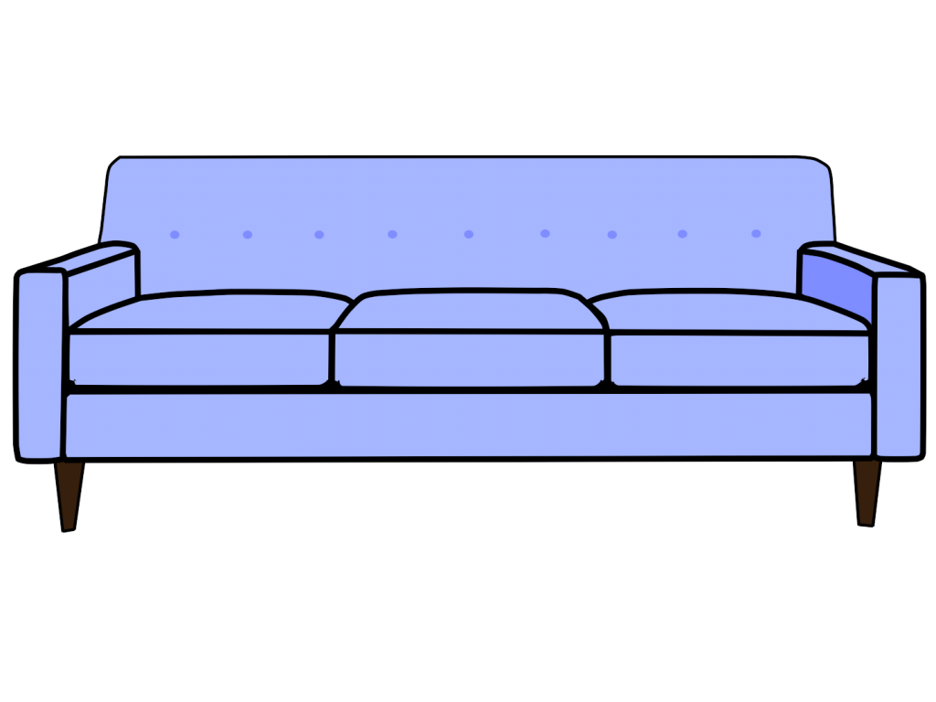 Couch clipart side view. Unique sofa top kid