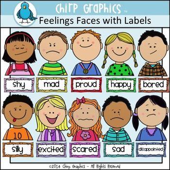 Emotions clipart fine. Kids feelings faces clip