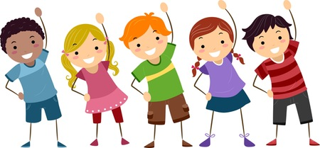 Exercising clipart school. Kids fitness free download