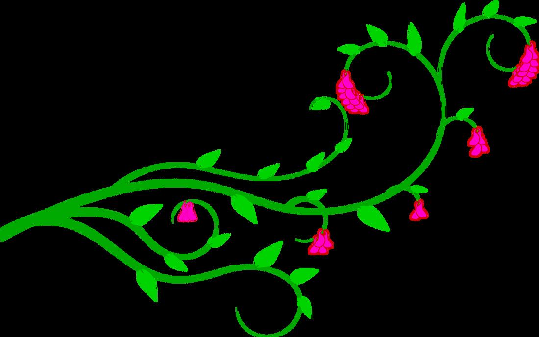 Flower kid embroidered denim. Vines clipart green