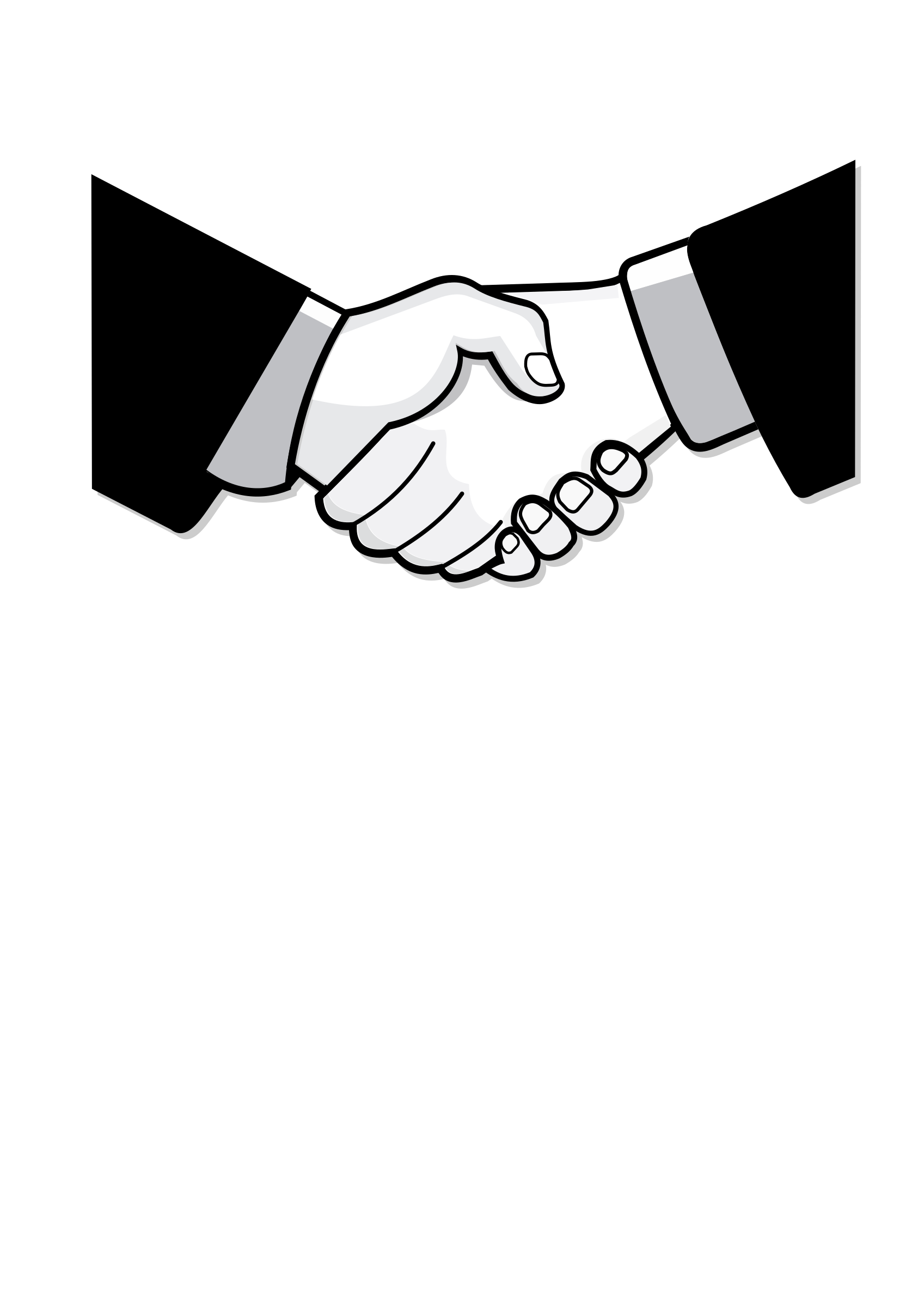 Handshake drawing at getdrawings. Thumb clipart sketch