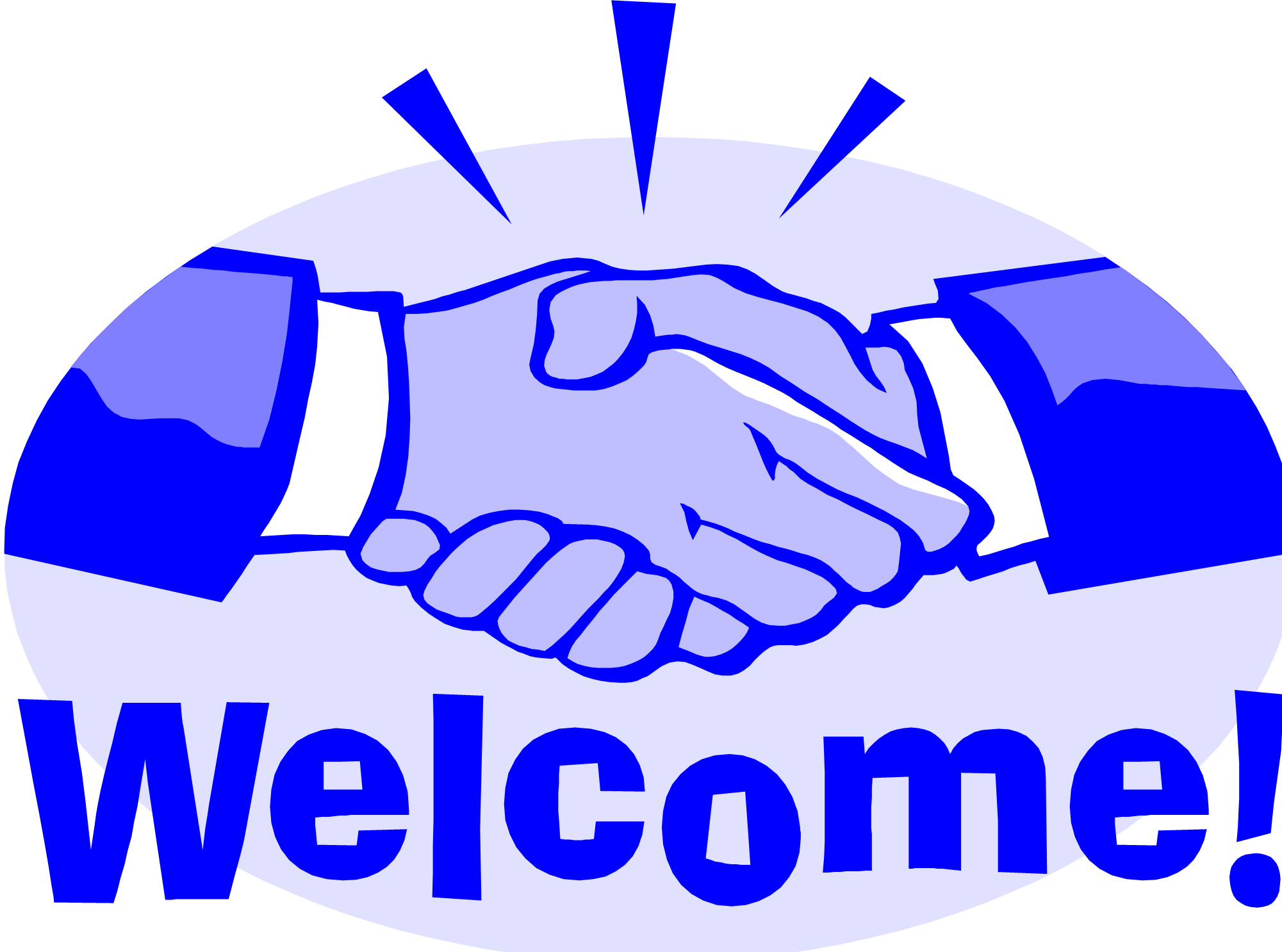 Handshake clipart day. Welcome image share on