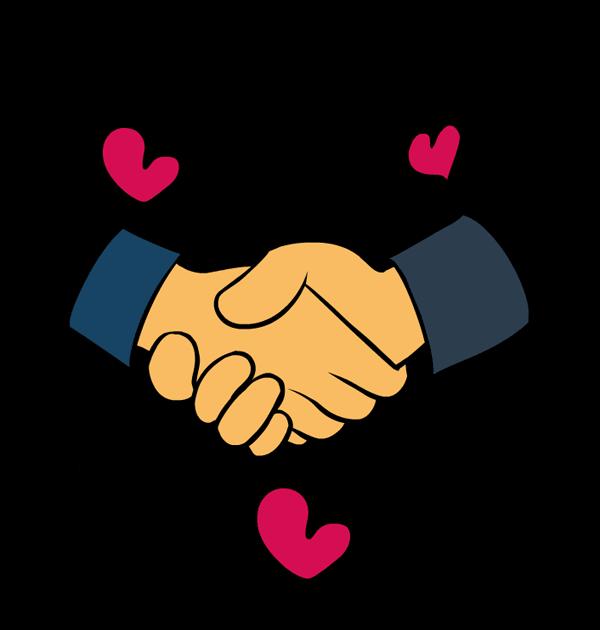 Handshake clip art image. Hands clipart self