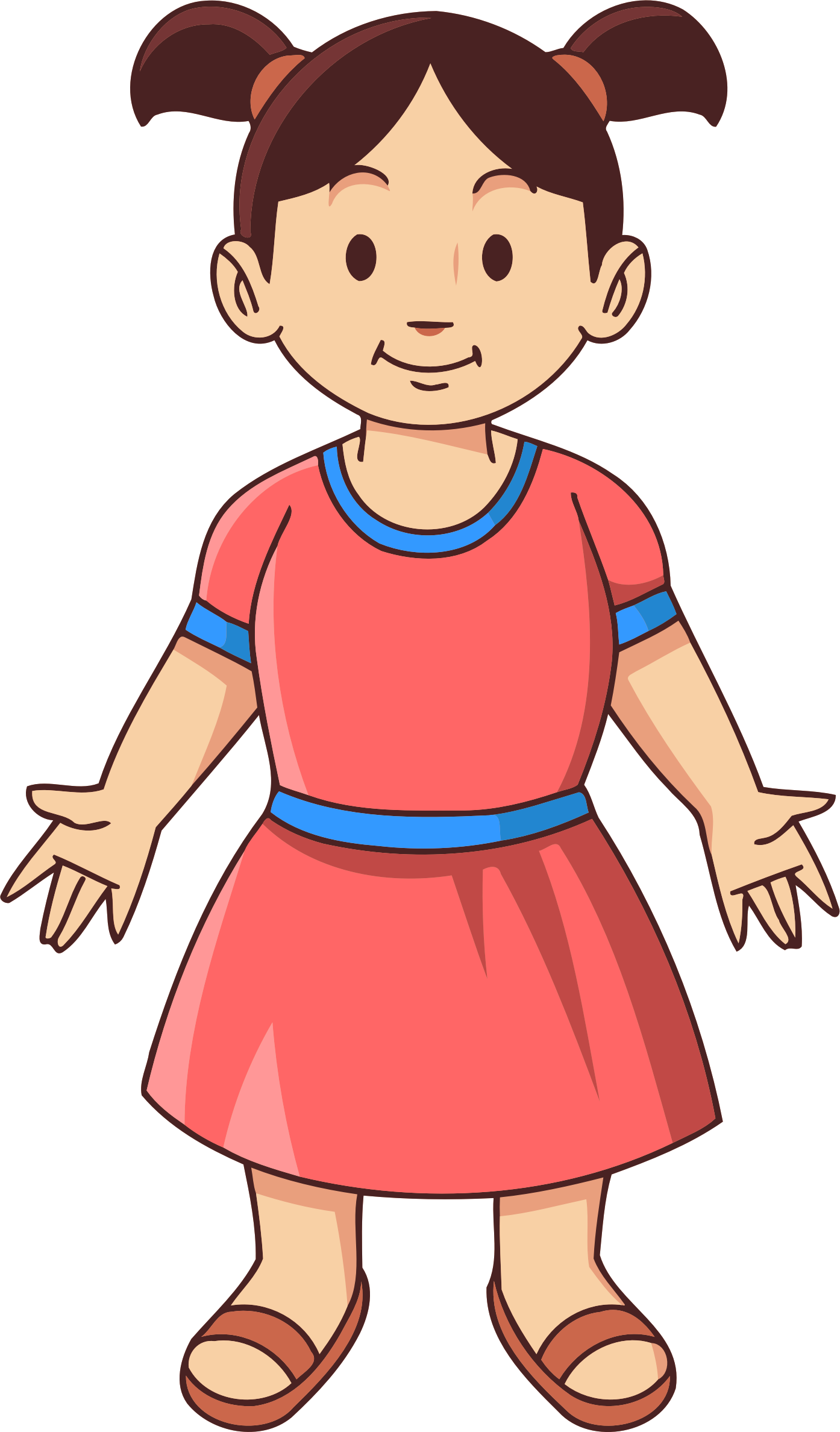Girl clipart kid. Child big image png