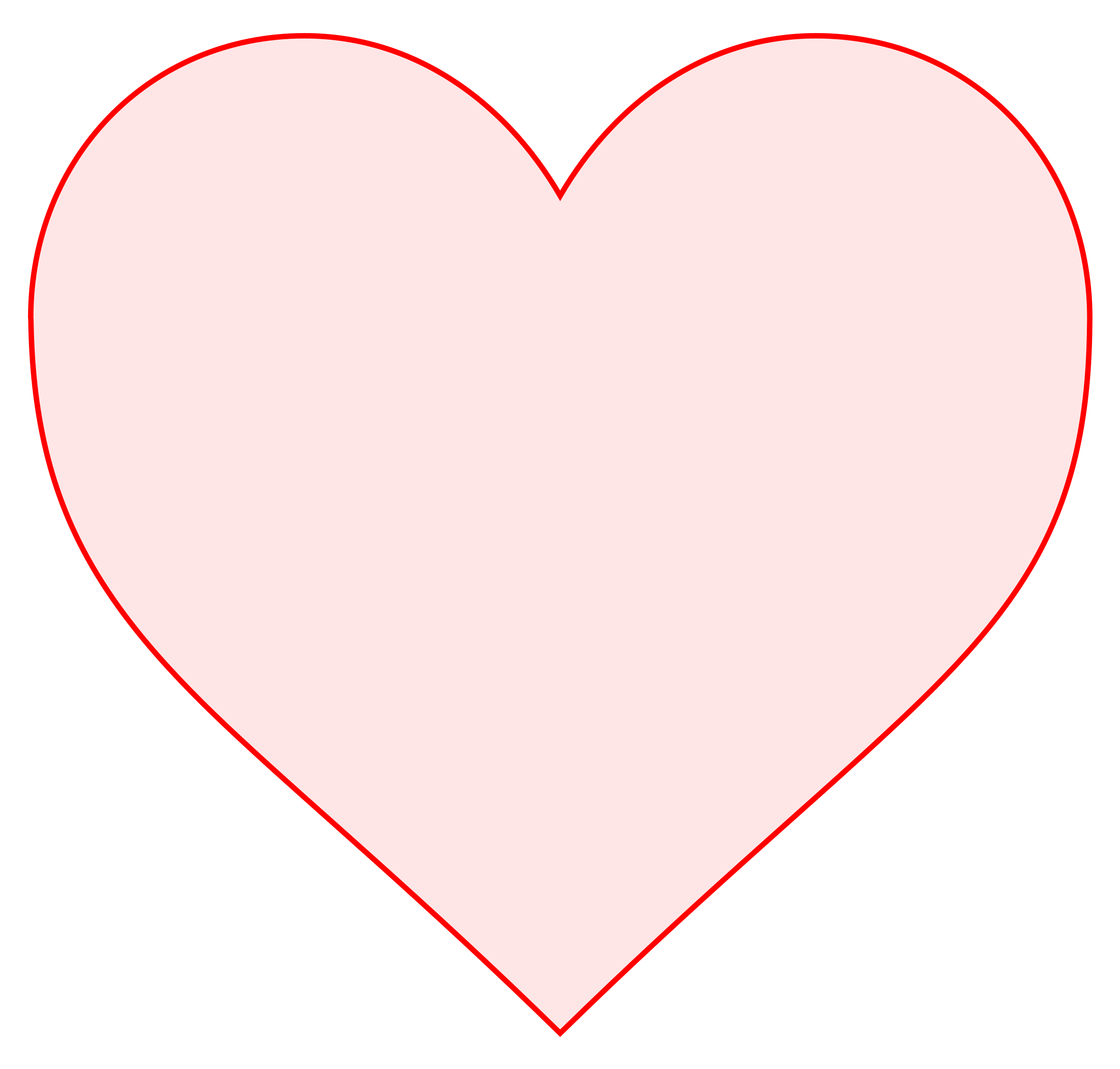 Pink heart big image. Square clipart love
