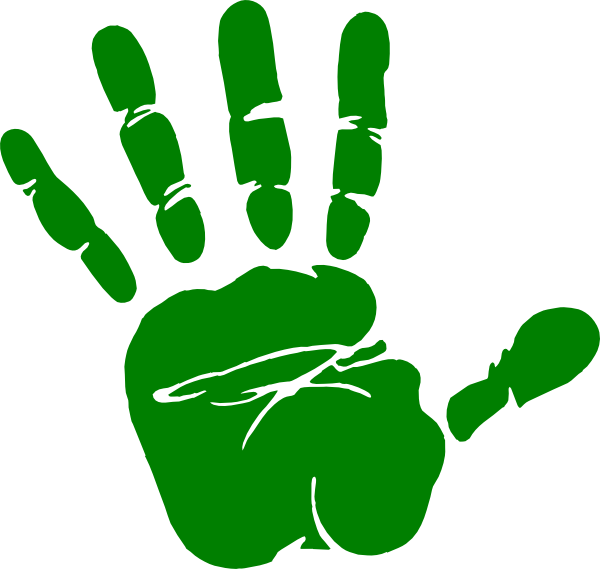 Fingers clipart childrens. Kids handprint panda free