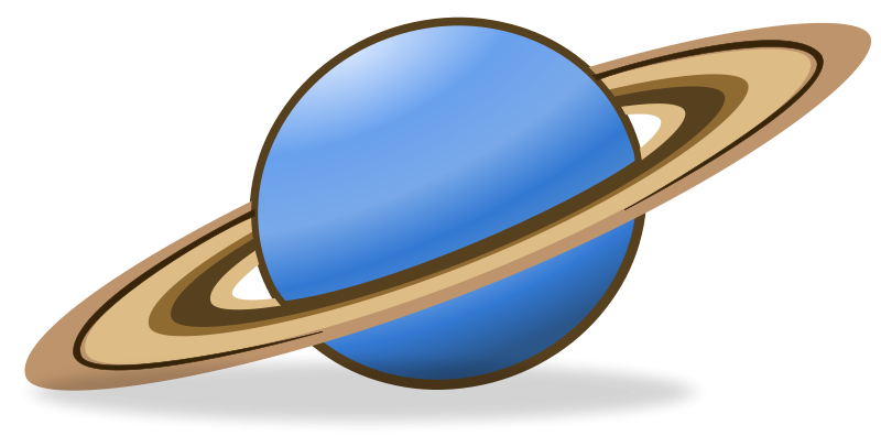Planet clipart outline. Saturn kid clipartix