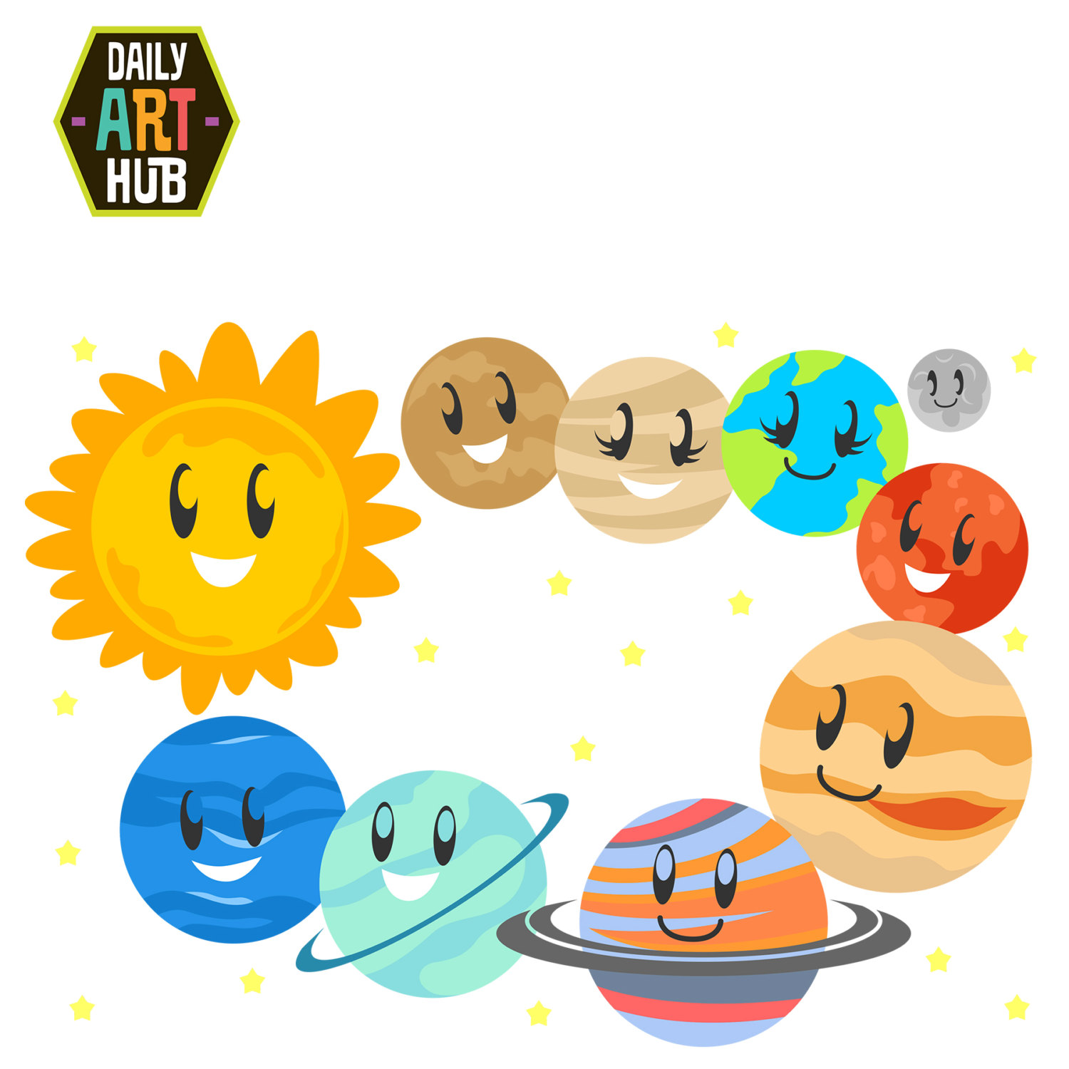 Free solar system download. Planet clipart printable