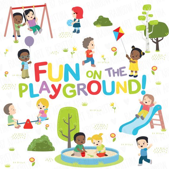 Park clipart toddler playground. Children at the activities