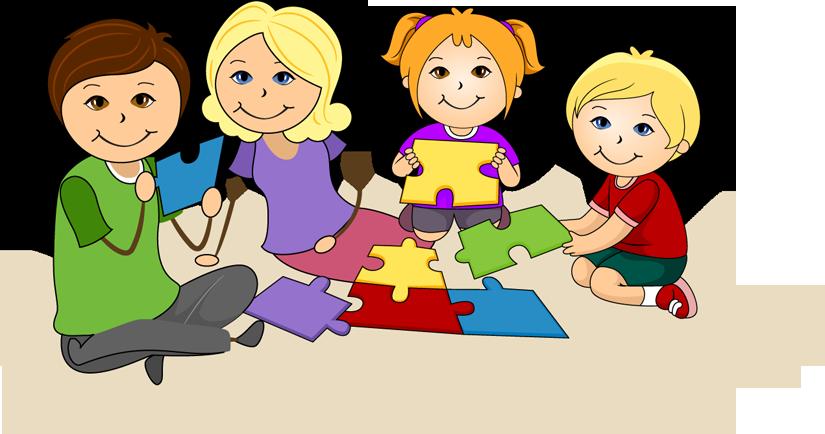 Aile etkinlikleri neden a. Clipart kids puzzle