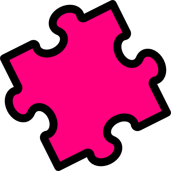 Clipart kids puzzle.  collection of pieces