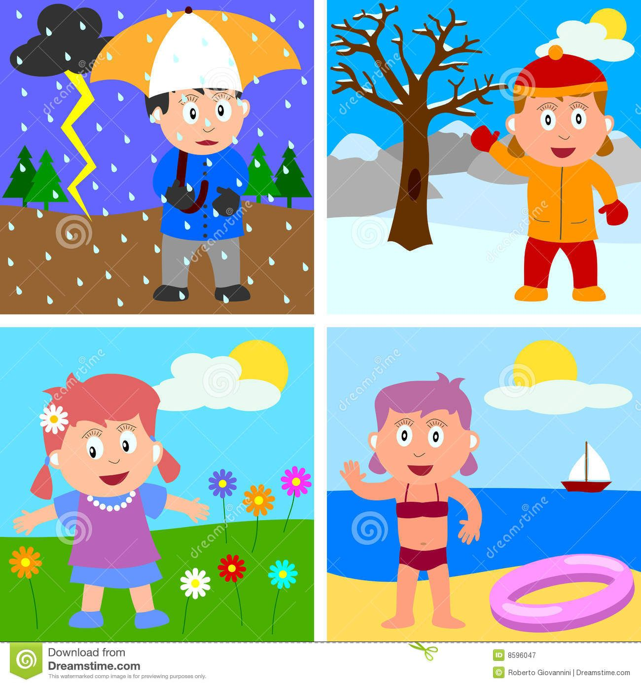 For kids station download. Kid clipart seasons