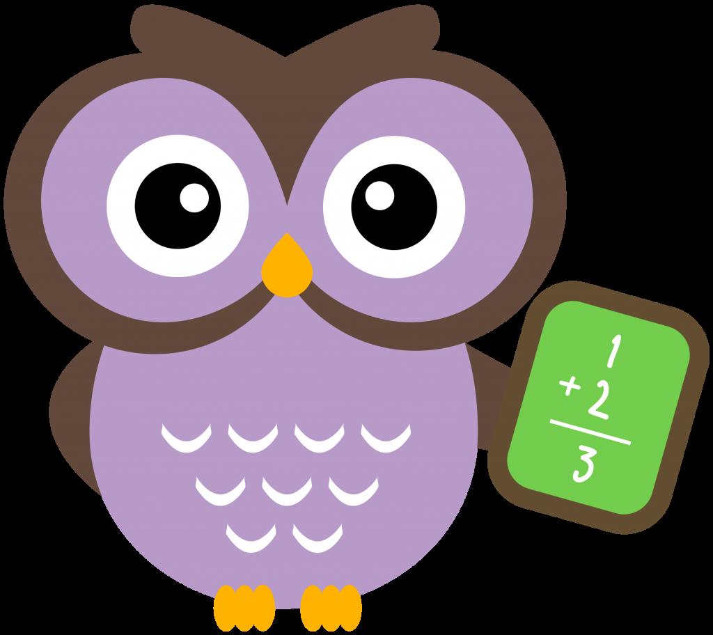 Fraction clipart kid. Owl math jokingart com