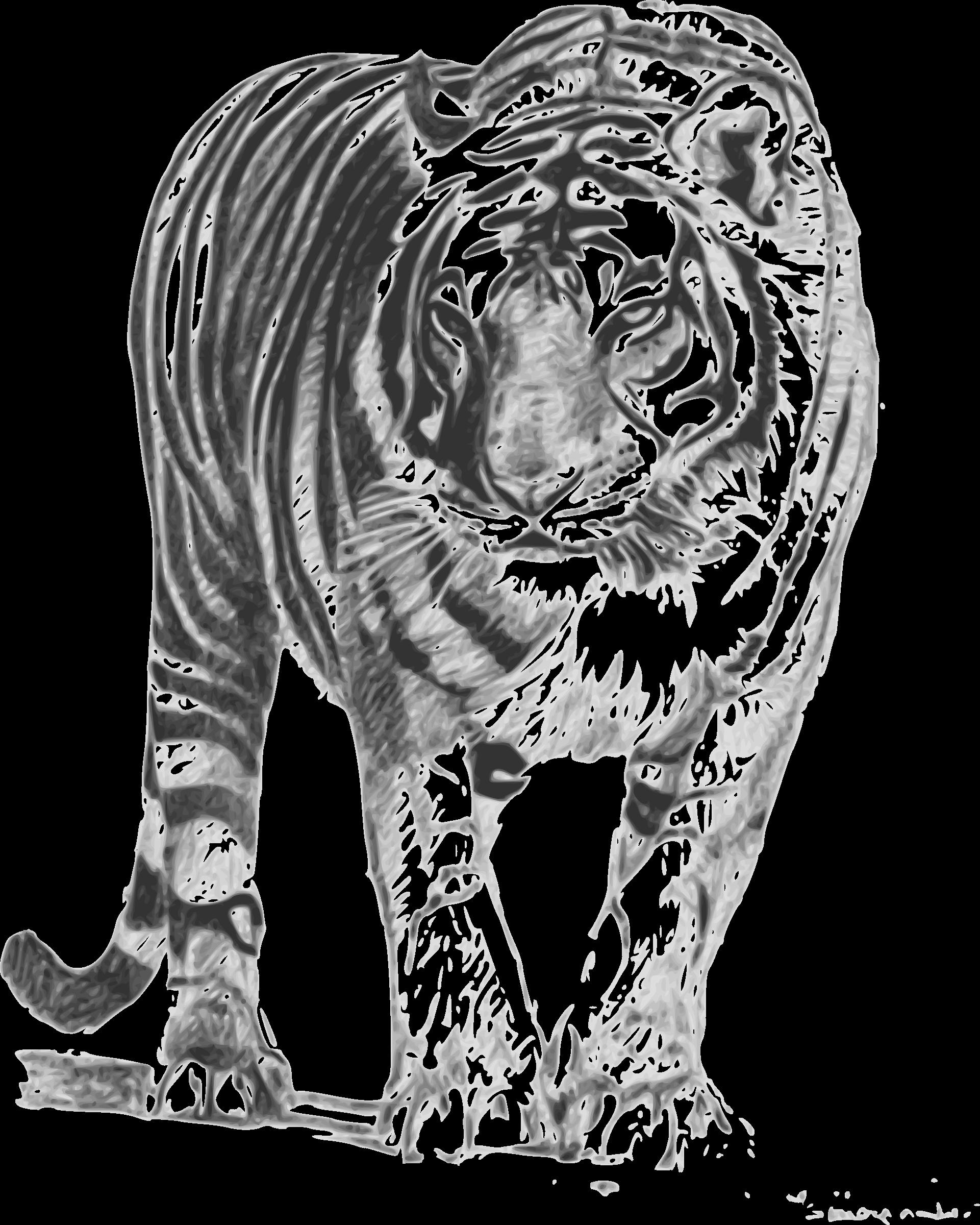 Bengal tiger. Paisley clipart bengali