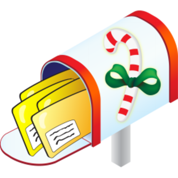Mailbox us mail kid. Coupon clipart christmas
