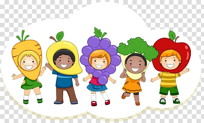 Boy and girl with. Clipart kid vegetable