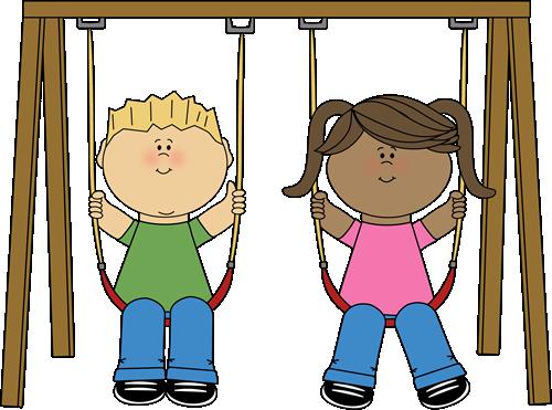 Clip art images swinging. Clipart kids