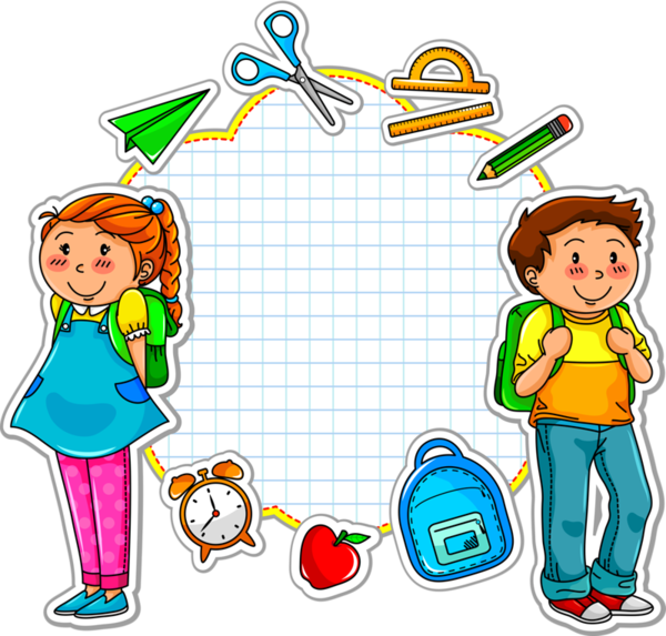 Kid clipart back to school. Labels scraps png bordes