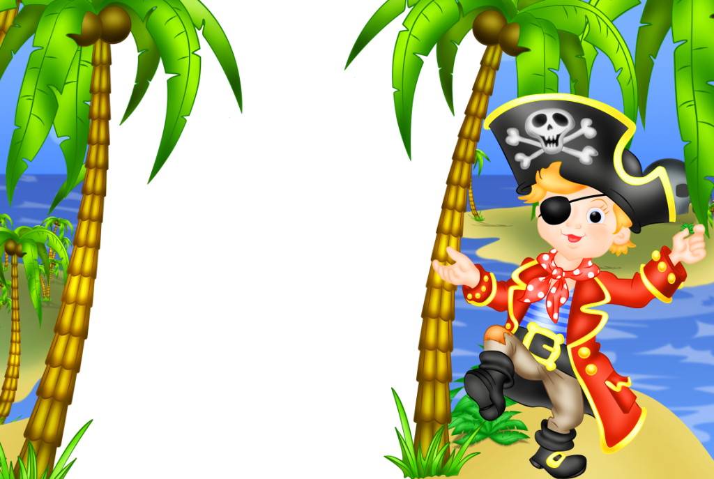 Pirate clipart happy birthday. Kids transparen png frame