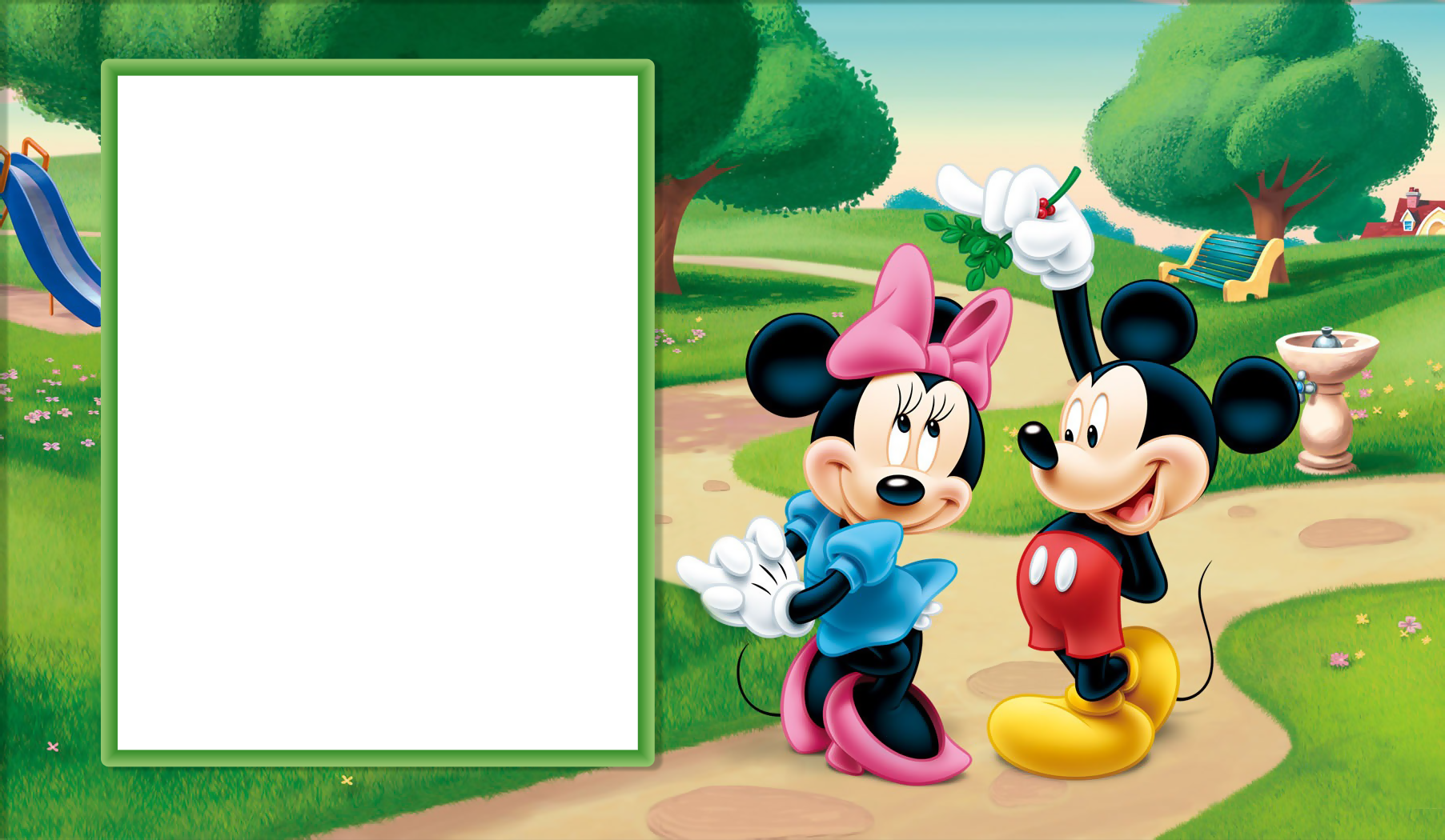 Minnie and transparent kids. Mickey mouse frame png