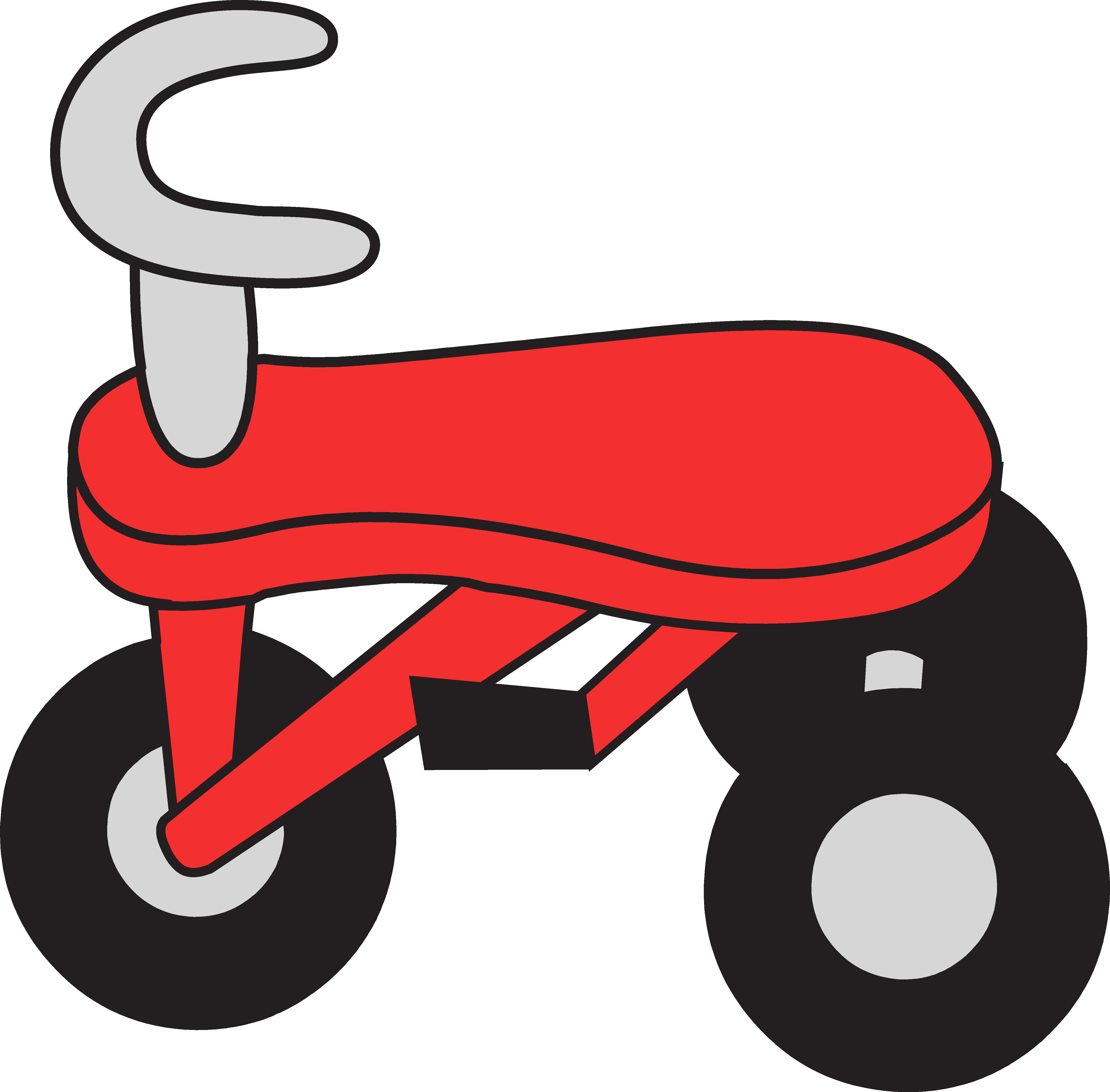 Little red tricycle free. Wagon clipart wagon ride