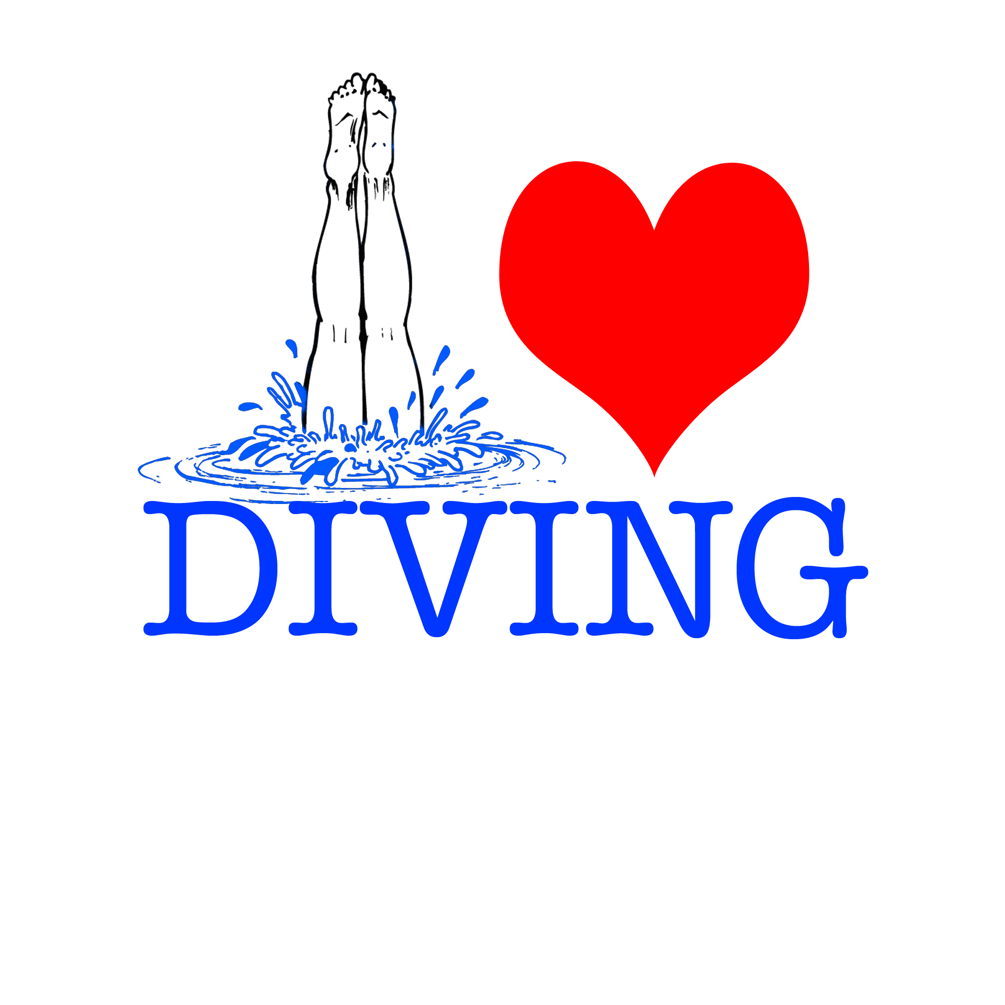 I love to dive. Diving clipart swimming team