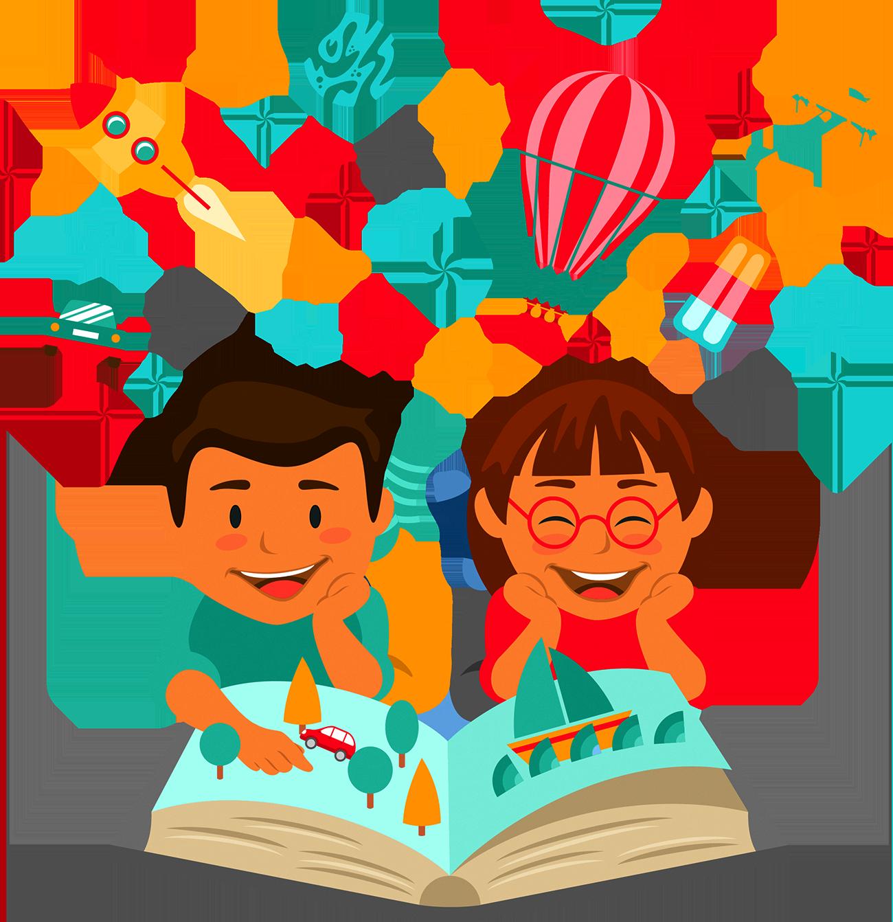 Clipart reading education. Child learning illustration children