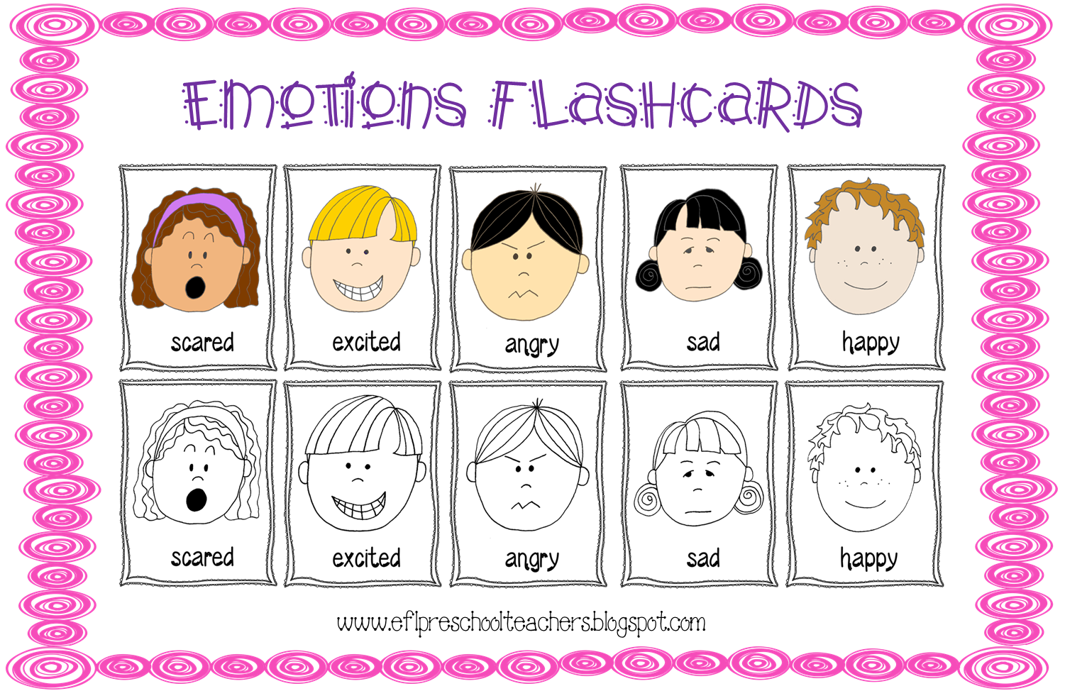 Esl emotions theme flashcards. Feelings clipart teacher
