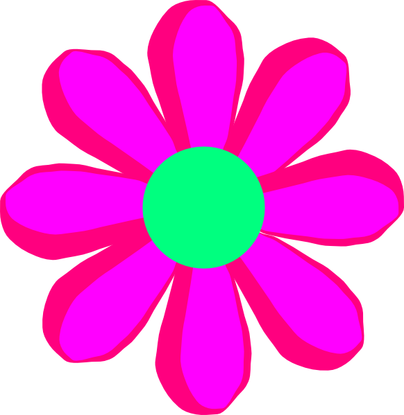 Pink clip art at. Flower cartoon png