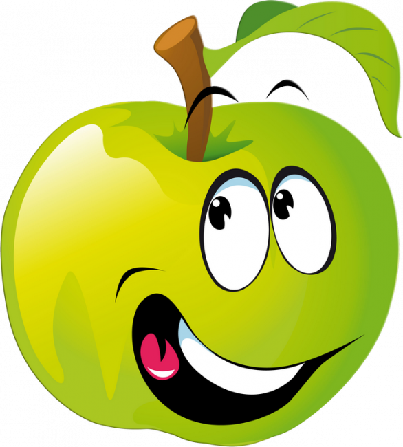 Funny nice coloring pages. Kids clipart fruit