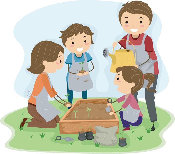 Gardener clipart childrens garden. Kids gardening clip art