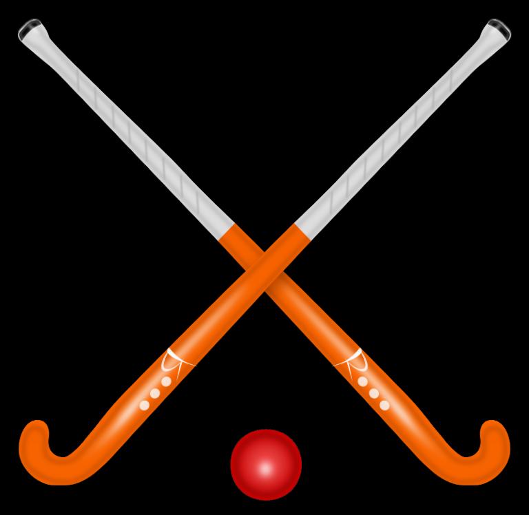 Hockey stick ball logo. Eagle clipart track