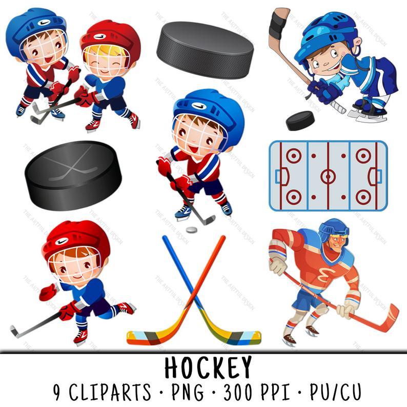 Sports clip art kid. Hockey clipart hockey team