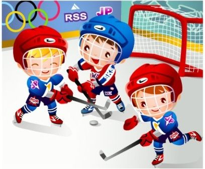 Children clip art . Hockey clipart hockey game