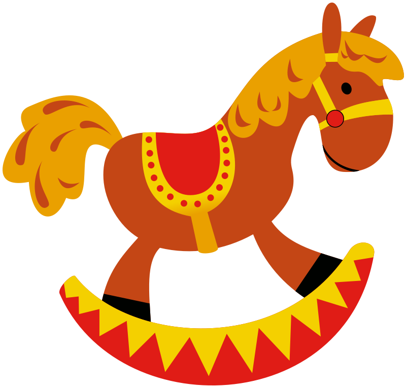 Rocking toys and games. Horse clipart printable