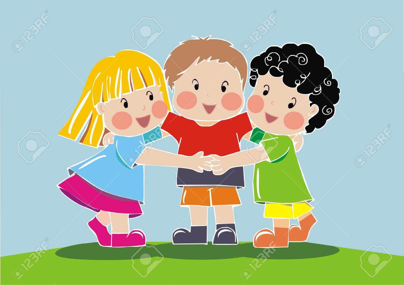 Kids hugging station . Hug clipart child hug