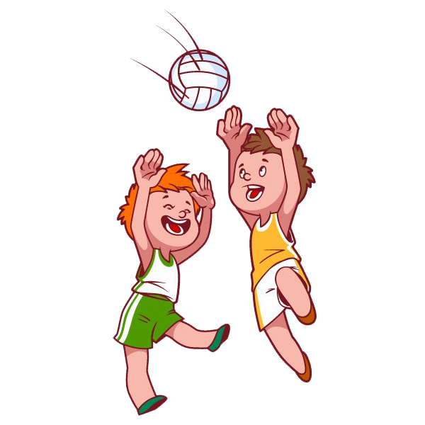 Beach volleyball child clip. Pineapple clipart kid