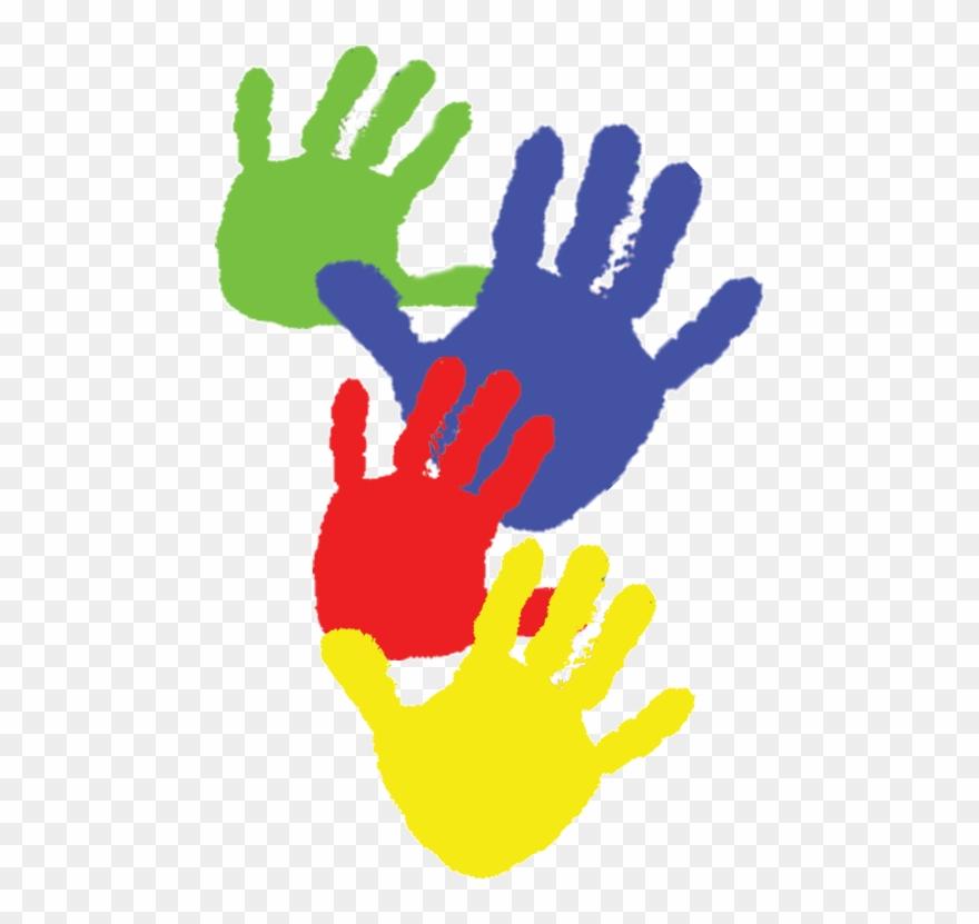 Paint handprints kids child. Handprint clipart child's