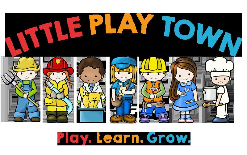 Clipart kids imagination. Little play town children