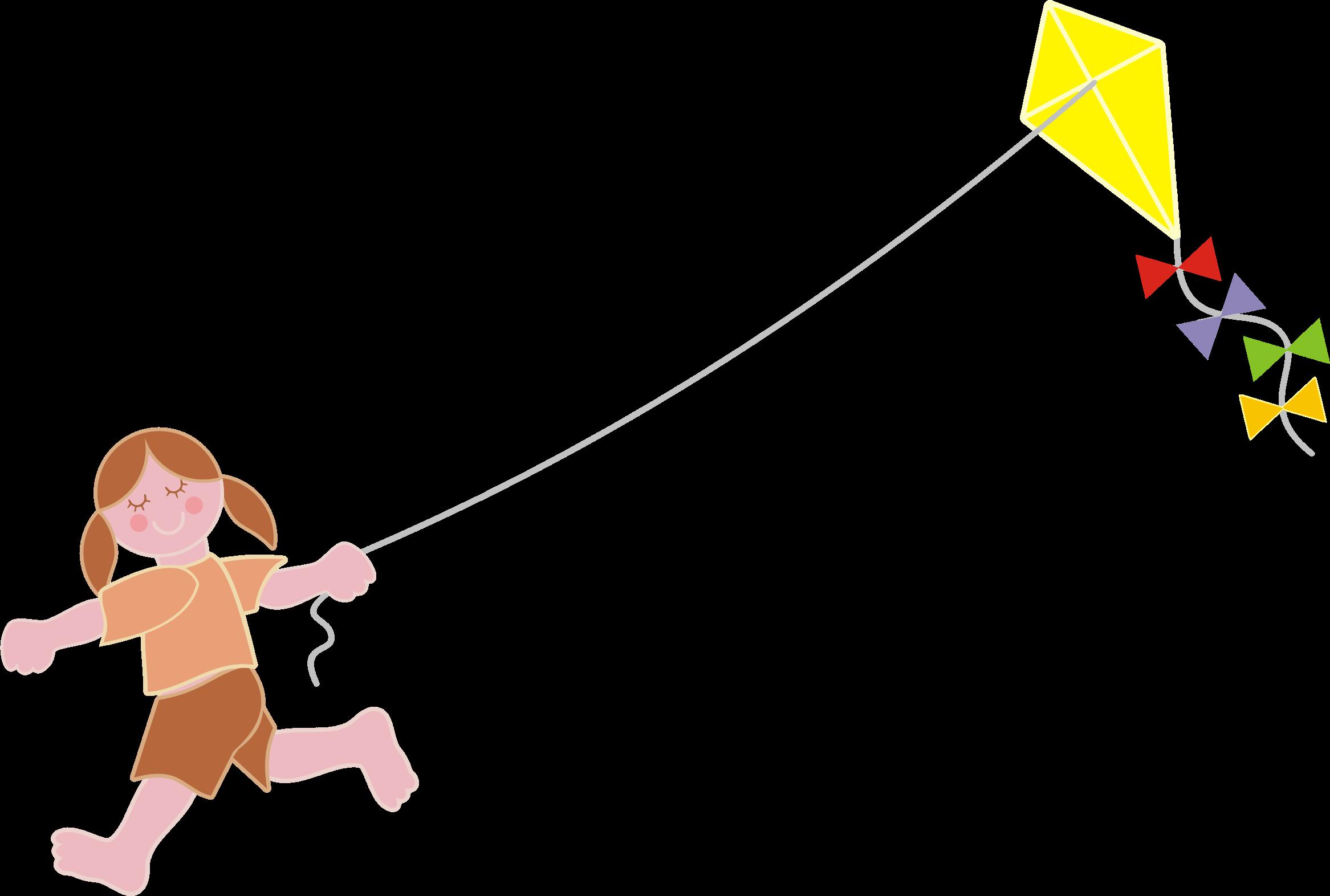 kite clipart girl holding