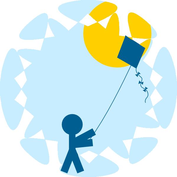 Clipart kite patang. Child flying clip art