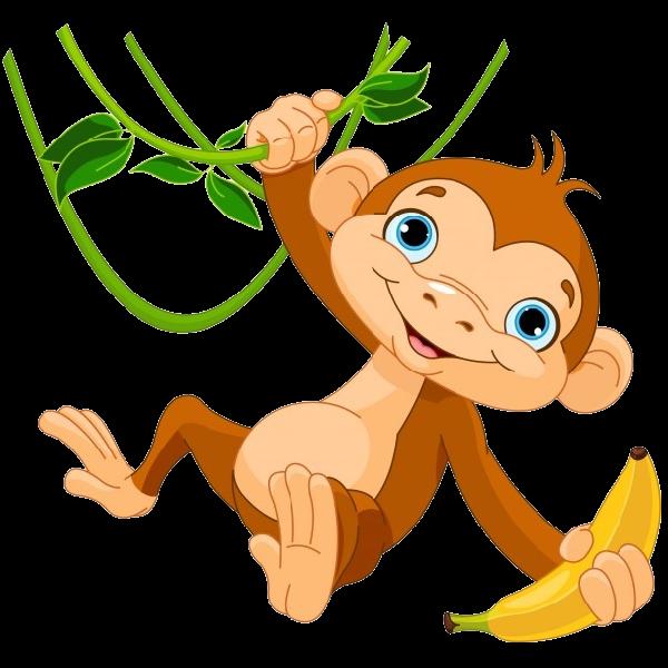 monkey clipart pig