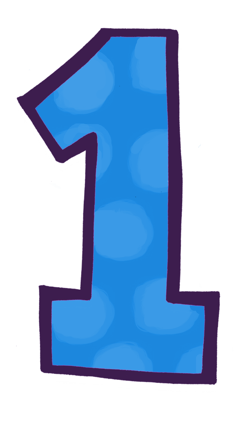 Clipart kids number. Countdown to the big